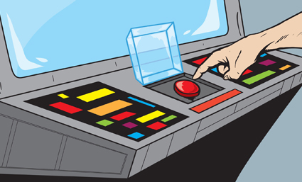 The Finger's on the Self-Destruct Button