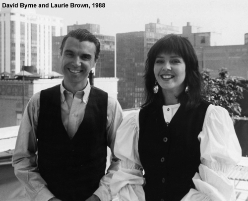 Laurie Brown David Byrne