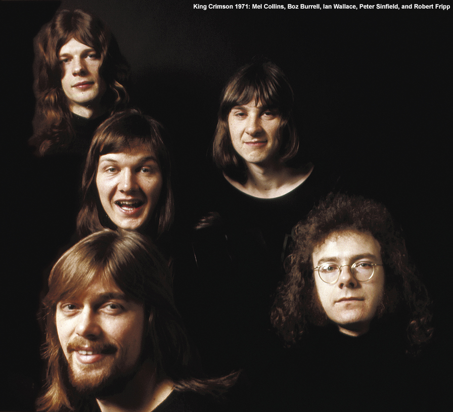 King Crimson Robert Fripp Boz Burrell Mel Collins