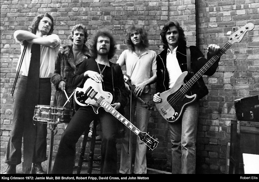 King Crimson Robert Fripp Jamie Muir Bill Bruford John Wetton