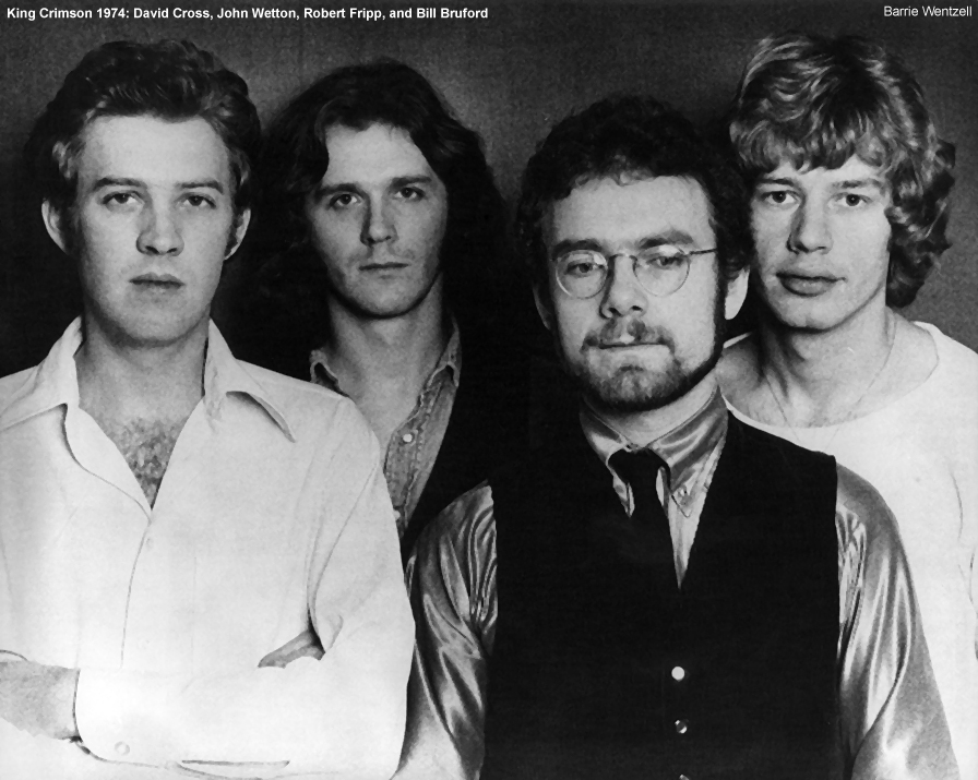 King Crimson Robert Fripp John Wetton Bill Bruford David Cross
