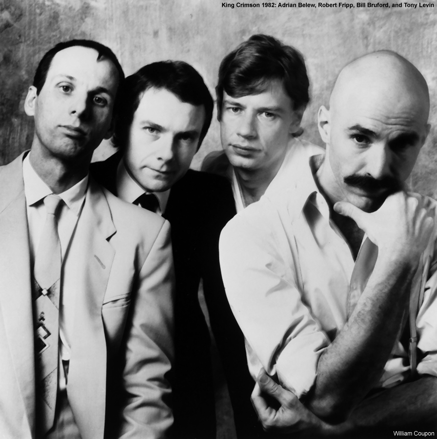 King Crimson Robert Fripp Adrian Belew Bill Bruford Tony Levin