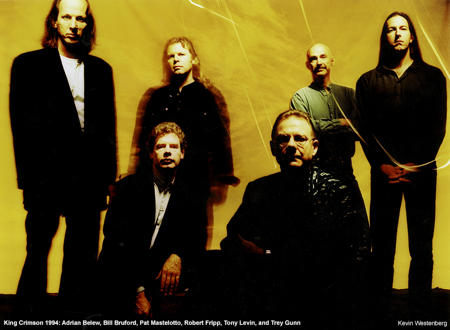 King Crimson Robert Fripp Adrian Belew Bill Bruford Trey Gunn Pat Mastelotto Tony Levin